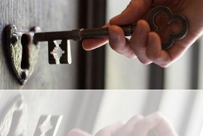 key unlocking door
