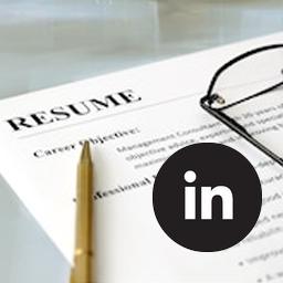 LinkedIn resumé option